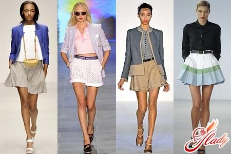 Модные юбки и шорты фото