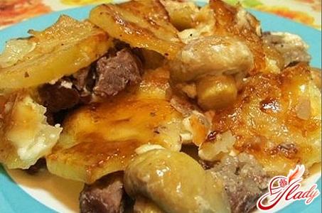 картопля по французьки з м'ясом