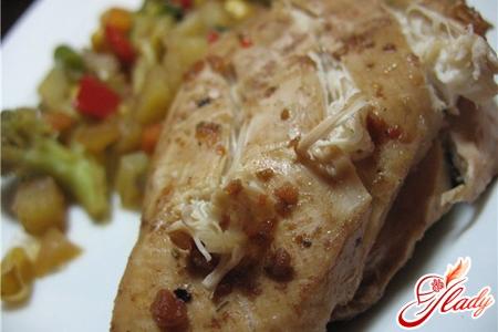 вторые блюда из куриной грудки