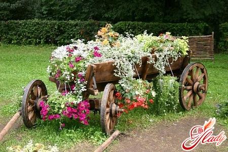 приемы цветочного оформления при создании цветников различных композиций