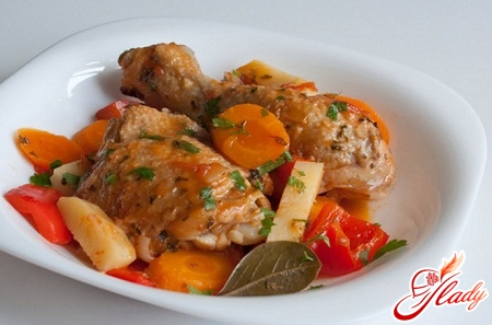 фрикасе из курицы рецепт
