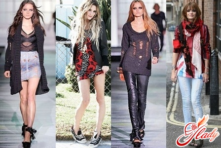 Колоритные отличия гранж-стиля в одежде.