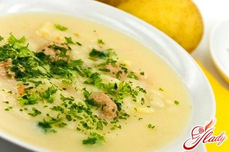 рецепт суп пюре куриный