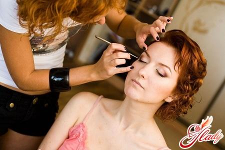 Свадебный макияж рыжие волосы