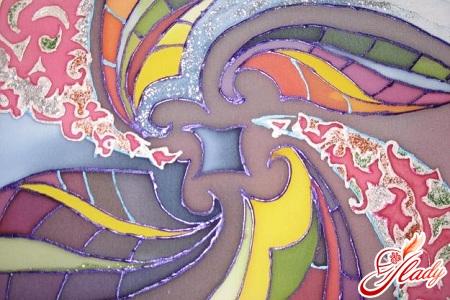 роспись по шелку ткани батик