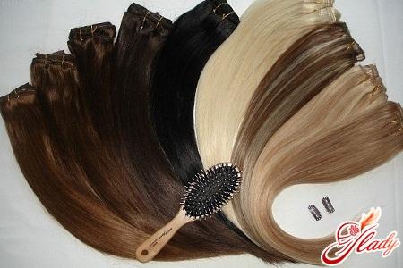 накладные пряди из натуральных волос на заколках клипсах