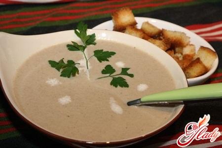 грибной суп пюре