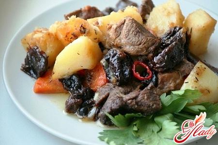 рецепт мясо с черносливом