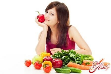 диета для похудения овощная