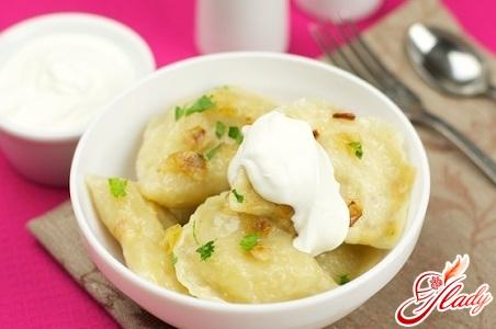 рецепт вареники с картошкой