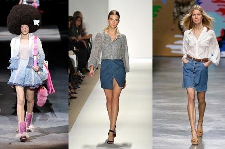 с чем носить короткую джинсовую юбку