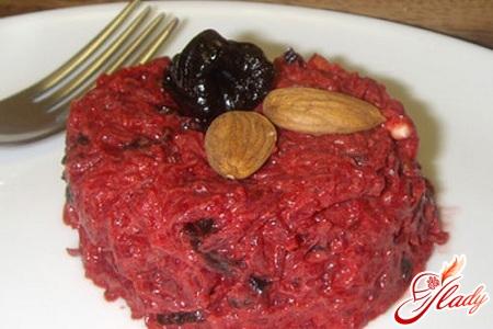 салат чернослив свекла орехи