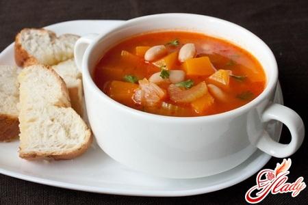 суп пюре из стручковой фасоли
