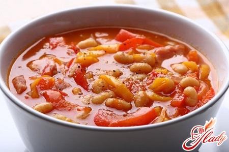 суп пюре фасолевый