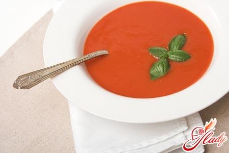 суп пюре из томатов