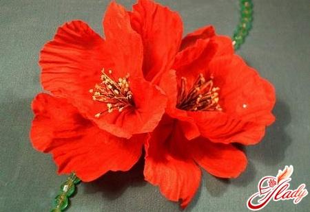 как сделать искусственные цветы из ткани своими руками