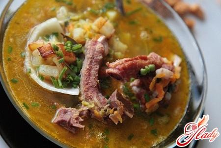 рецепт горохового супа со свининой