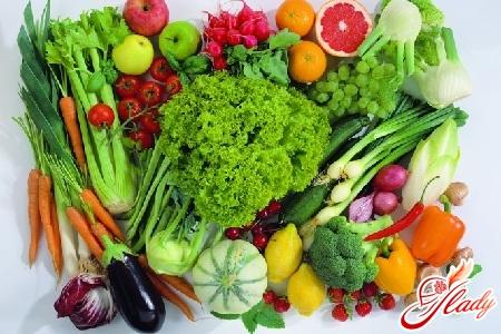 овощных салатах на диета