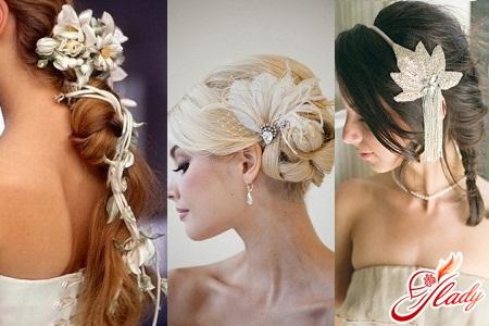 Свадебные причёски 2012