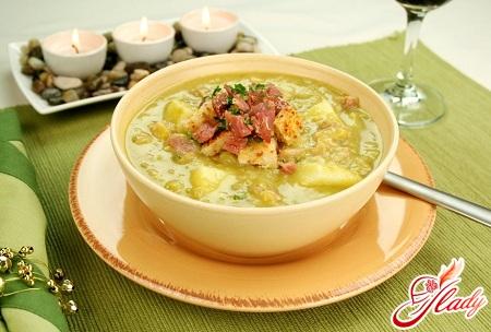 рецепты горохового супа из свиной косточке
