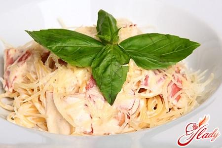 Паста карбонара классический рецепт со сливками