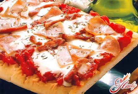 пицца с ветчиной рецепт