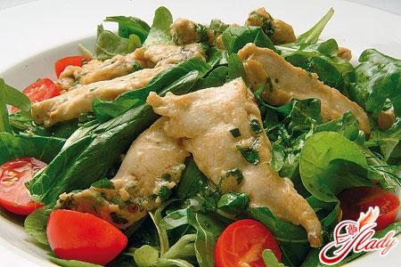 Салаты из куриное мясо