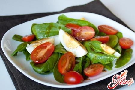 Салаты из шпината свежего рецепты