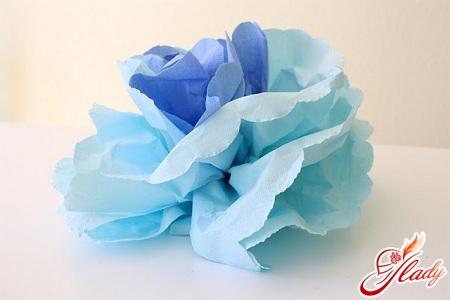 красивые цветы из салфеток своими руками