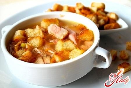 вкусный гороховый суп с копченой курицей