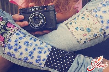 украсить джинсы своими руками