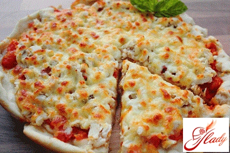начинка для пиццы с курицей