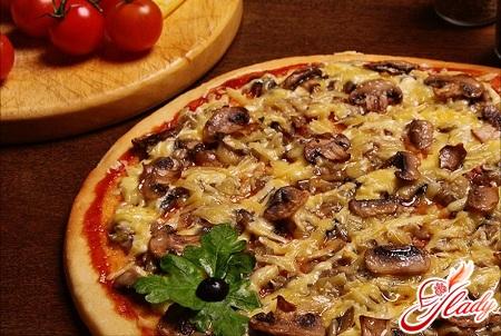 вкусная пицца с шампиньонами рецепт