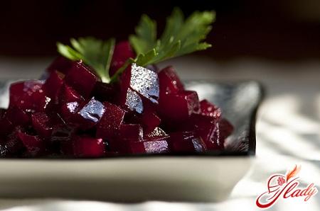 салат свекла с чесноком