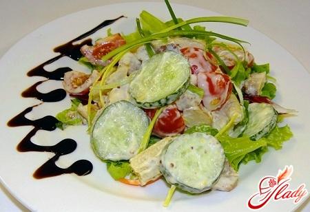 рецепт салата из свежих огурцов