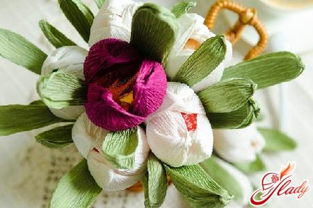 вкусные цветы из конфет своими руками
