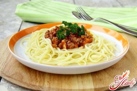 рецепт паста болоньезе