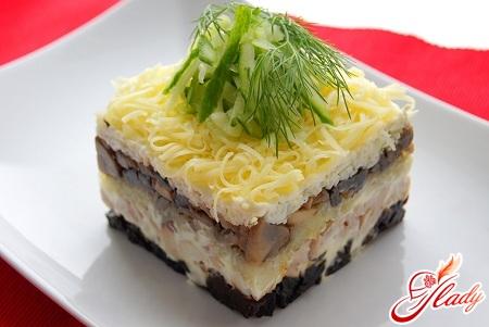 Рецепты с фото салатов слоями