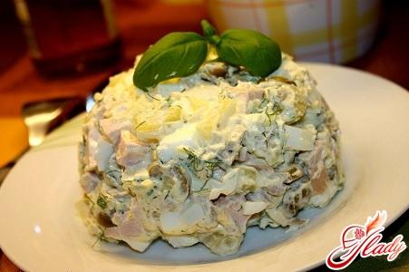 рецепт рыбного салата простой рецепт