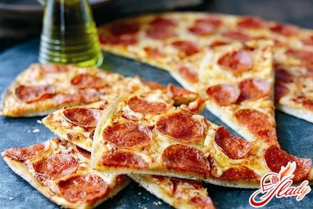 Вкусная домашняя пицца рецепт с фото быстро