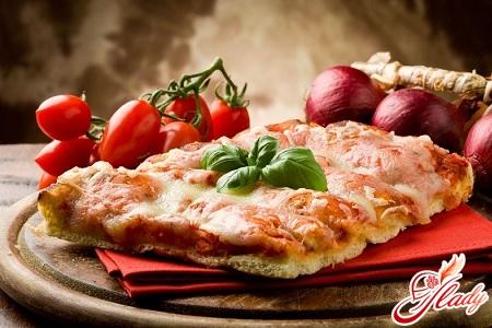 рецепт бездрожжевой пиццы в домашних условиях