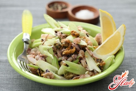 салат со стеблями сельдерея рецепты