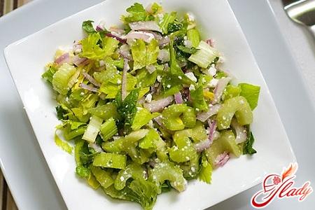 фото стеблевым Салат с с сельдереем рецепты