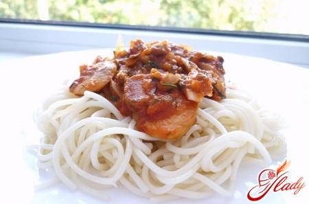 соус с грибами к спагетти