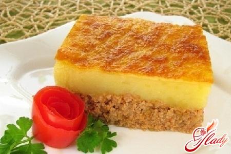 рецепт картофельной запеканки с фаршем без сыра