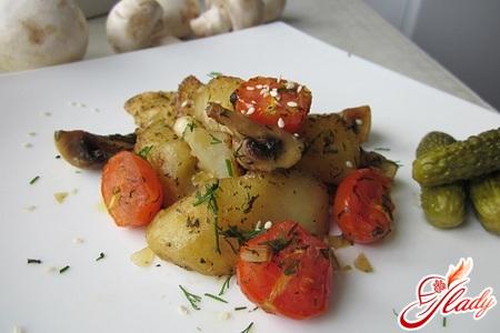 вкусная картофельная запеканка с овощами