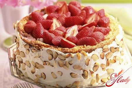 Бисквитный торт фруктовая нежность