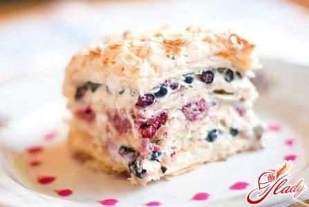 бисквит со сливками и заварным кремом рецепт с фото