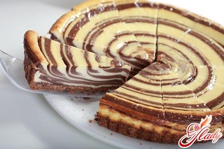 торт бисквитный с заварным кремом
