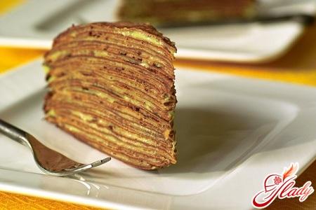 торт бисквитный со сгущенкой